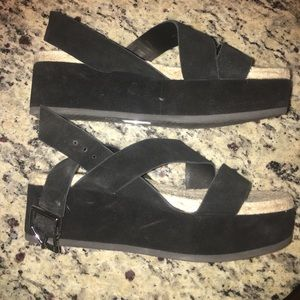 Rag & Bone new suede black platform sandals 7.5